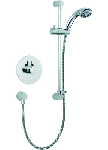 mira miniduo and eco showerhead built in valve chrome. Black Bedroom Furniture Sets. Home Design Ideas
