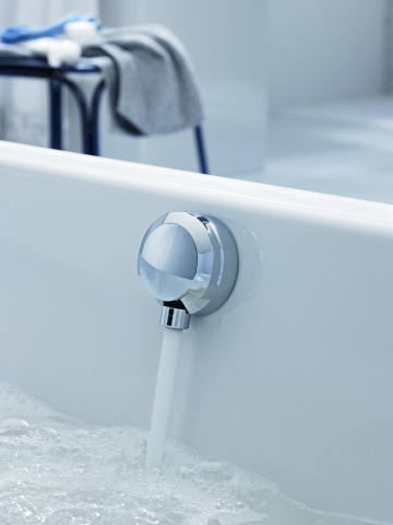 Geberit bath trap overflow and chrome pop up waste for Geberit tub drain