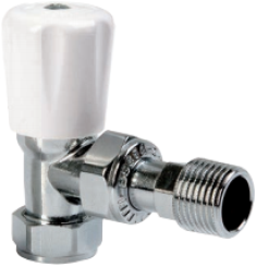 Altecnic Angled Eclipse Valve with Chrome Head 15mm