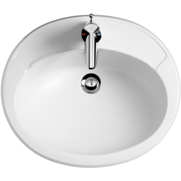Armitage Shanks Galaxy Countertop Basin 51cm White Two Taphole