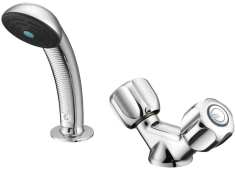 Armitage Shanks Starlite Dual Control Hairdressers Basin Mixer With Flexible Hose Handspray & Sleeve Chrome