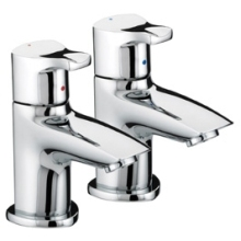Bristan Capri Basin Taps 110mm x 80mm Chrome