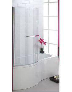 Curved Shower Screen (5mm) 1500x770mm Polished Silver