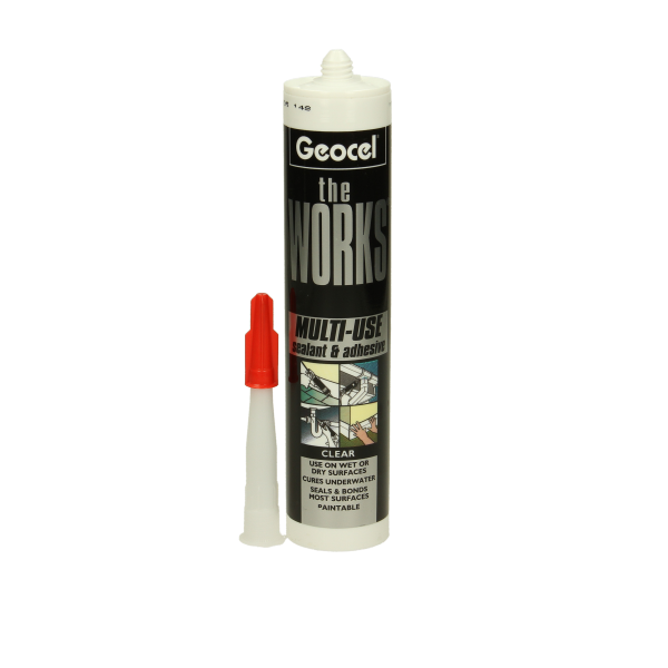 geocel the works silicone sealant clear. Black Bedroom Furniture Sets. Home Design Ideas