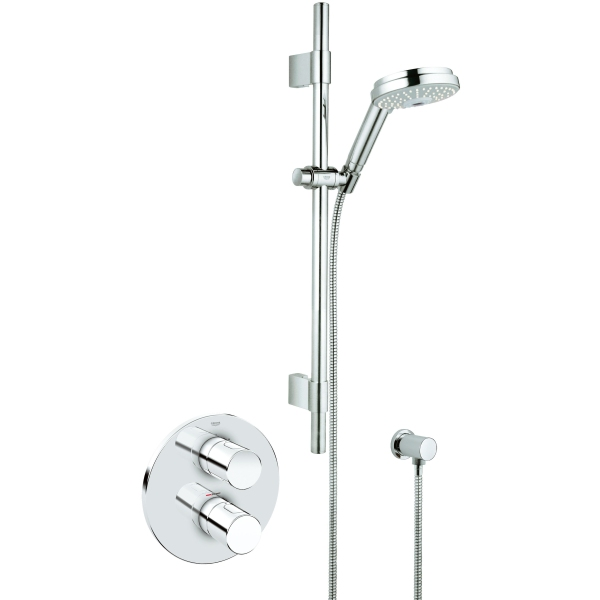 grohe grohtherm 3000 cosmo thermostatic shower built in. Black Bedroom Furniture Sets. Home Design Ideas