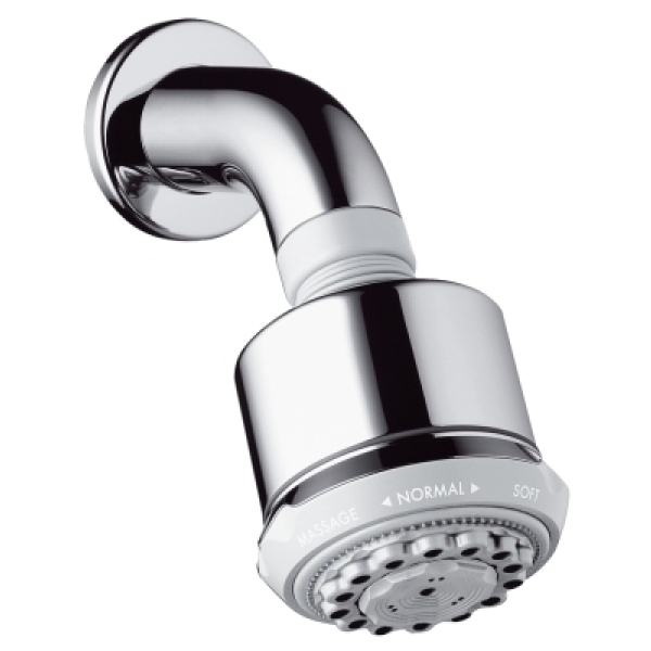 Hansgrohe clubmaster overhead shower with shower arm - Hansgrohe shower arm ...