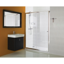 Haven Sliding Door 1400mm Chrome