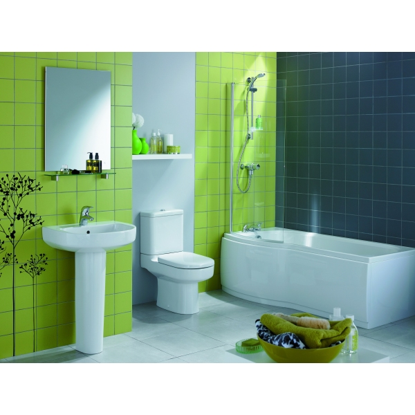 ideal standard alto left hand shower bath with panel and