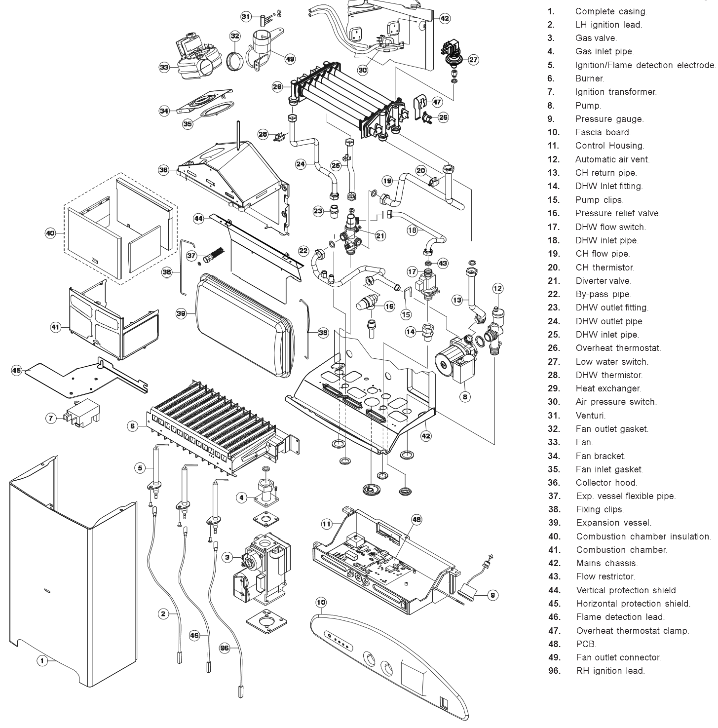 Boiler Parts Worcester Diagram Crown Wiring Pictures