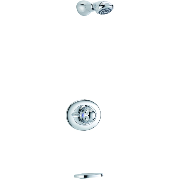 mira excel built in valve with fixed showerhead chrome. Black Bedroom Furniture Sets. Home Design Ideas