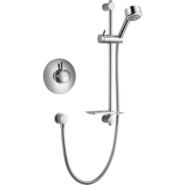mira select thermostatic mixer shower built in valve chrome. Black Bedroom Furniture Sets. Home Design Ideas