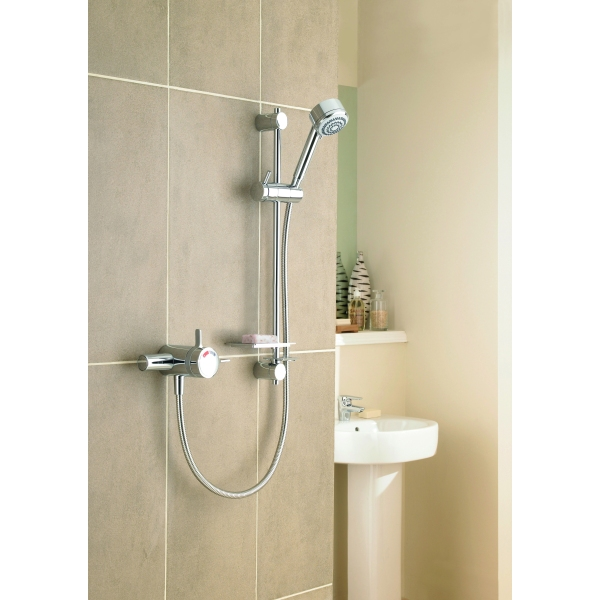 mira select thermoststic mixer shower exposed valve chrome. Black Bedroom Furniture Sets. Home Design Ideas