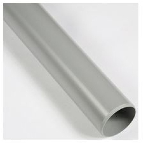 Polypipe plain end pipe 3 82mm 3m grey for 82mm soil pipe