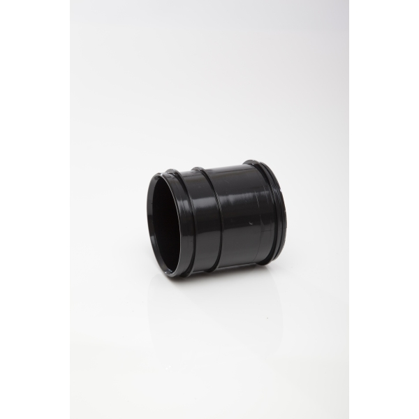 polypipe solvent soil pipe coupling double socket 82mm black