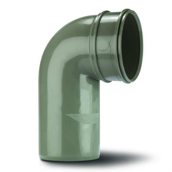 poypipe solvent soil spigot bend single socket 110mm x 90