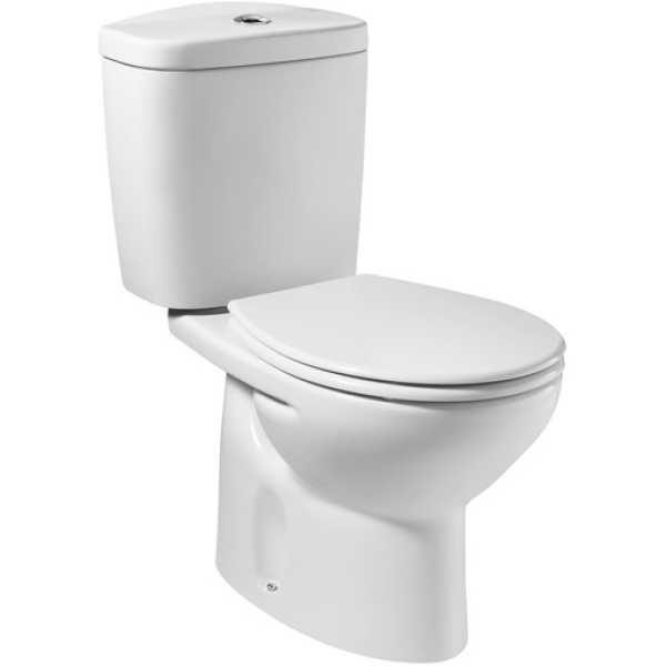 Roca laura c c pan with soft close seat and cistern for Abrir cisterna roca