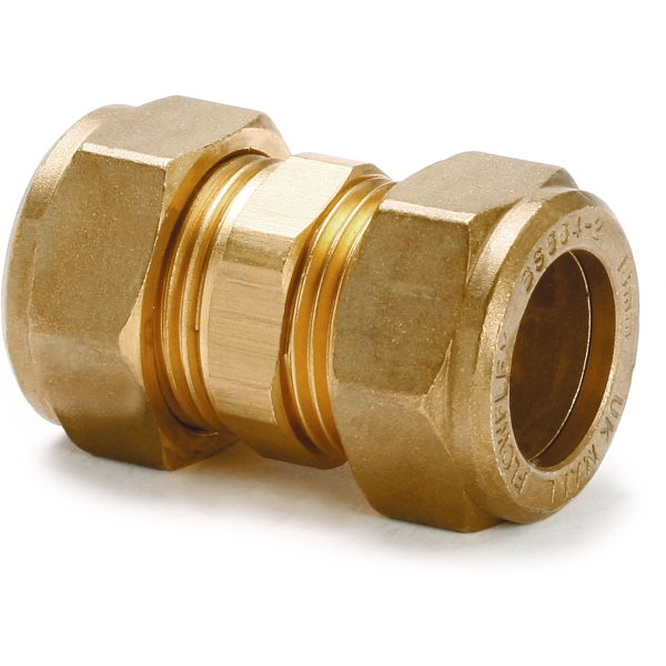 Straight coupling mm brass