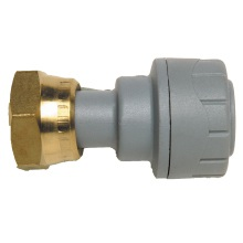 Polyplumb Straight Tap Connector Grey
