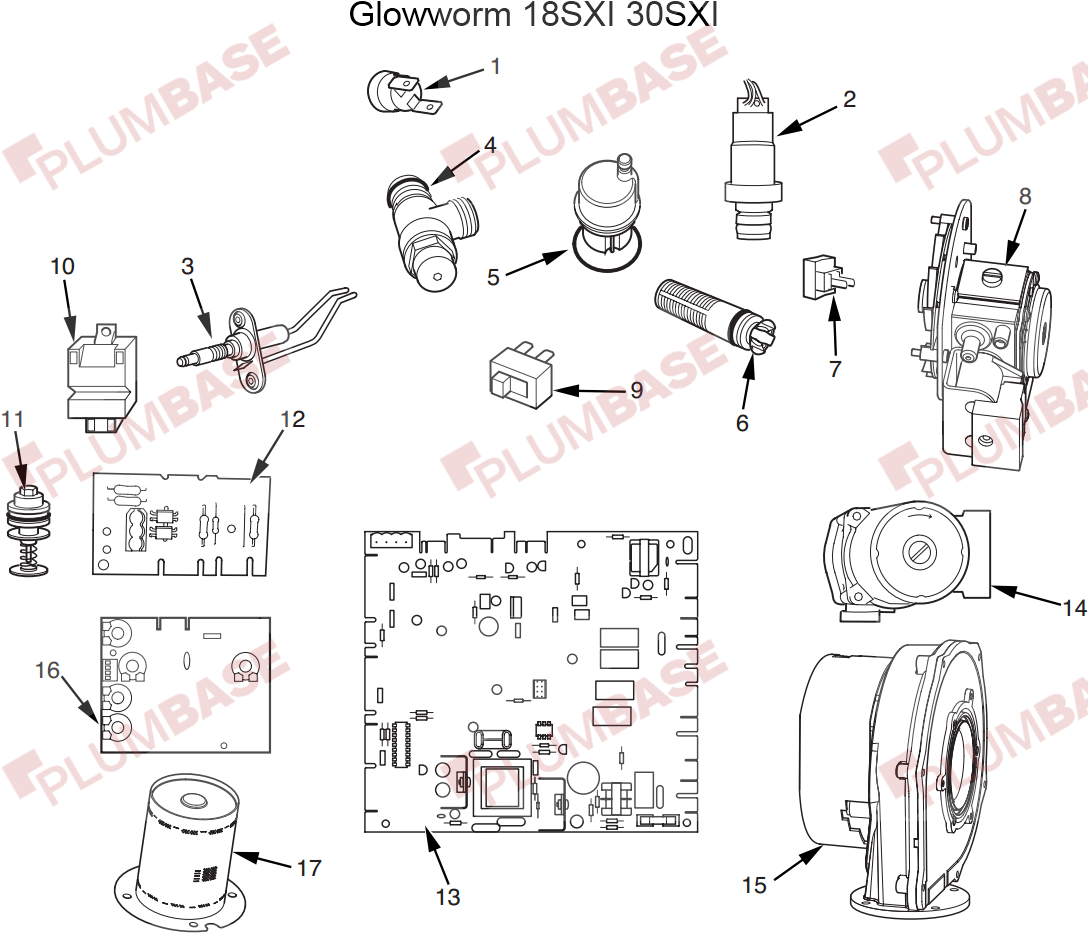 Glowworm 18SXI exploded views and parts list