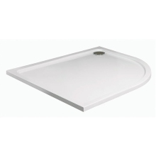 JT40 Fusion Offset Quadrant Tray 1000 x 800mm White Right Hand
