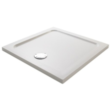 Mira Flight Safe Square Low Shower Tray 1000mm White