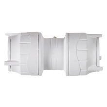 Polyfit Straight Coupler White 10mm