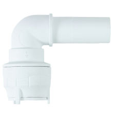 Polyfit Spigot Elbow White 15mm