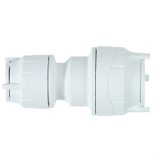 Polyfit Reducing Coupler White 15mm x 10mm