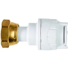 Polyfit Straight Tap Connector White 15mm x 3/4""