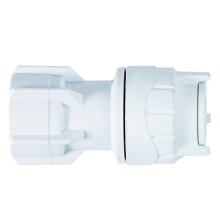 Polyfit Hand Tap Connector White 15mm x 3/4""