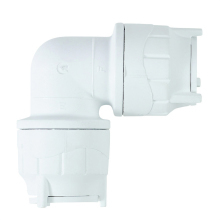 Polyfit Elbow White 22mm