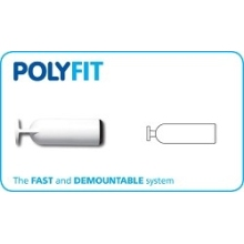 Polyfit Spigot Blank End White 22mm