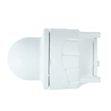 Polyfit Socket Blank End White 28mm