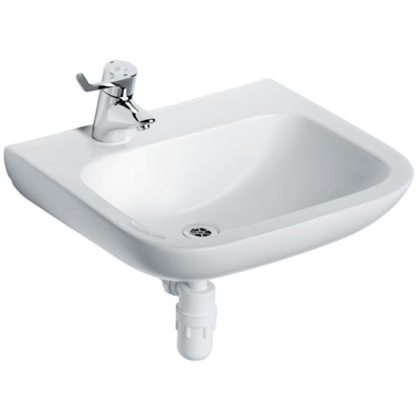 Armitage Shanks Portman 21 Basin No Overflow Or Chain Hole 400mm One Left Hand Taphole