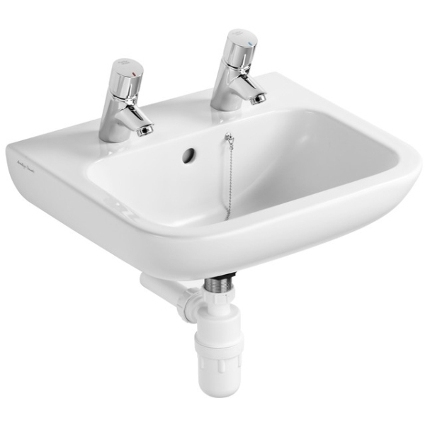 Armitage Shanks Portman 21 Basin With Overflow & Chain Hole Two Tapholes White 500mm