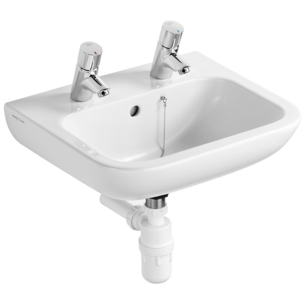 Armitage Shanks Portman 21 Basin With Overflow No Chain Hole 500mm Two Tapholes
