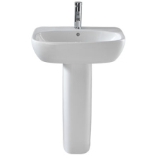 Twyford Moda With Total Install System Washbasin 1 Taphole White 550x450mm