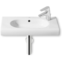 Roca Meridian Compact Wall Mounted Basin 1 Tap Hole White 600mm Right Handed