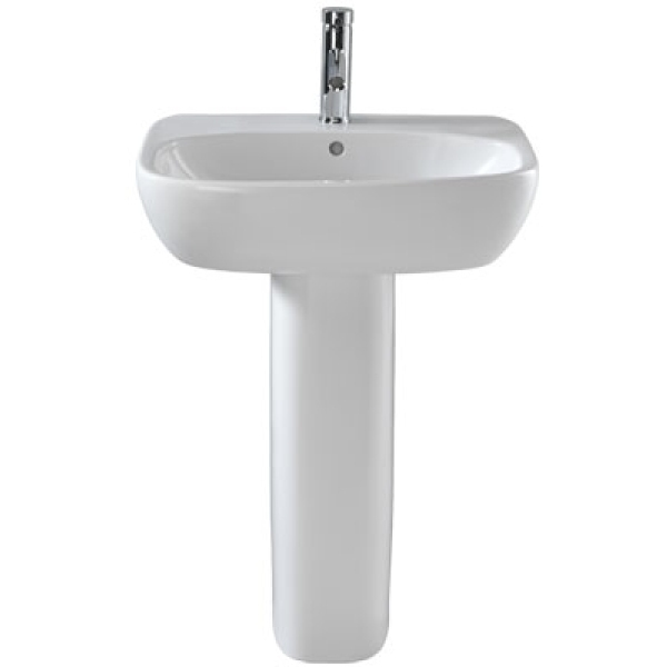 Twyford Moda With Total Install System Washbasin 1 Taphole White 600x460mm