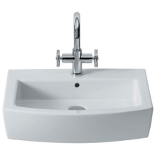 Roca Hall Basin 1 Tap Hole White 650mm