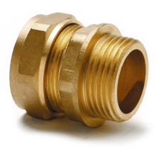 "Adaptor Straight Male 10mm X 1/4"" Copper"
