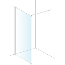 AKW 1950 x 1000mm Shower Screen