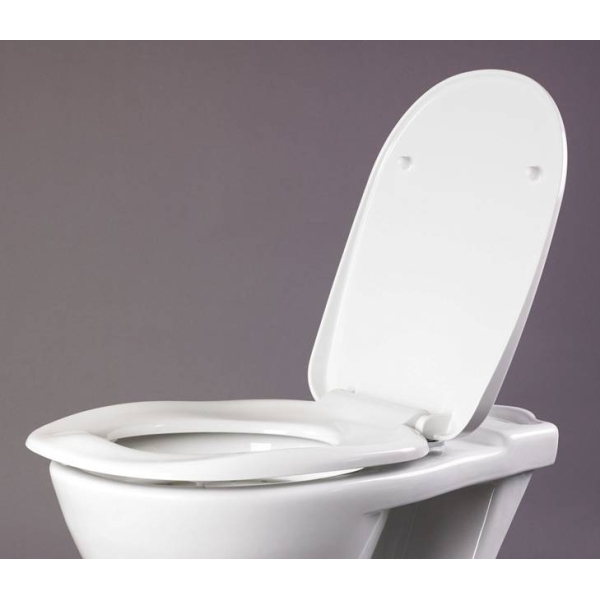 AKW Ergonomic Toilet Seat With Lid White