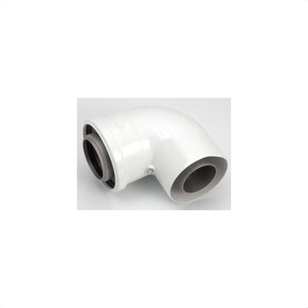 Alpha CD 90 Degrees Elbow White