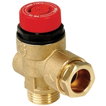 "Altecnic 1/2"" M/F 3 Bar Safety Relief Valve With Gauge"