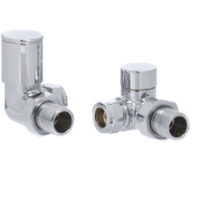 "Altecnic 15mm x 1/2"" Modern 90° Corner Radiator Valve (Pair)"