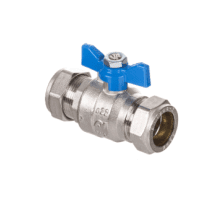 Altecnic 28mm Ball Valve With Blue Butterfly Handle