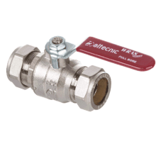 Altecnic 35mm Ball Valve With Red Lever Handle