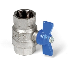 Altecnic 22mm Ball Valve with Blue Butterfly Handle