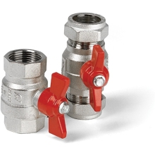 Altecnic 15mm Ball Valve With Red Butterfly Handle